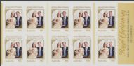 Aus SG4102a A Royal Christening self-adhesive booklet pane (SB453)